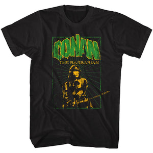 Conan-In The Green-Black Adult S/S Tshirt