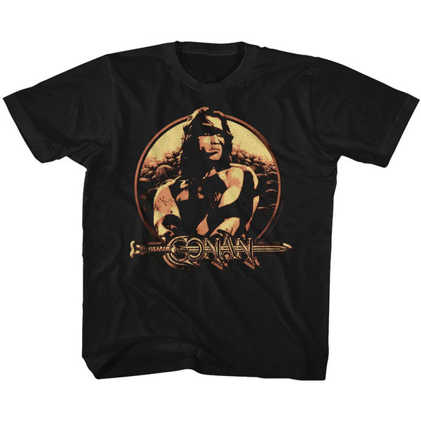 Conan-Shield-Black Toddler S/S Tshirt