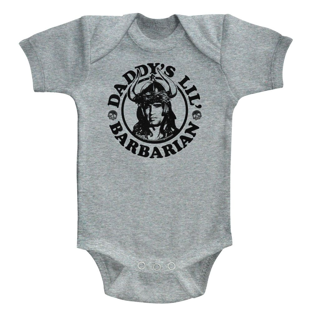 Conan-Daddy's Barbarian-Gray Heather Newborn S/S Bodysuit