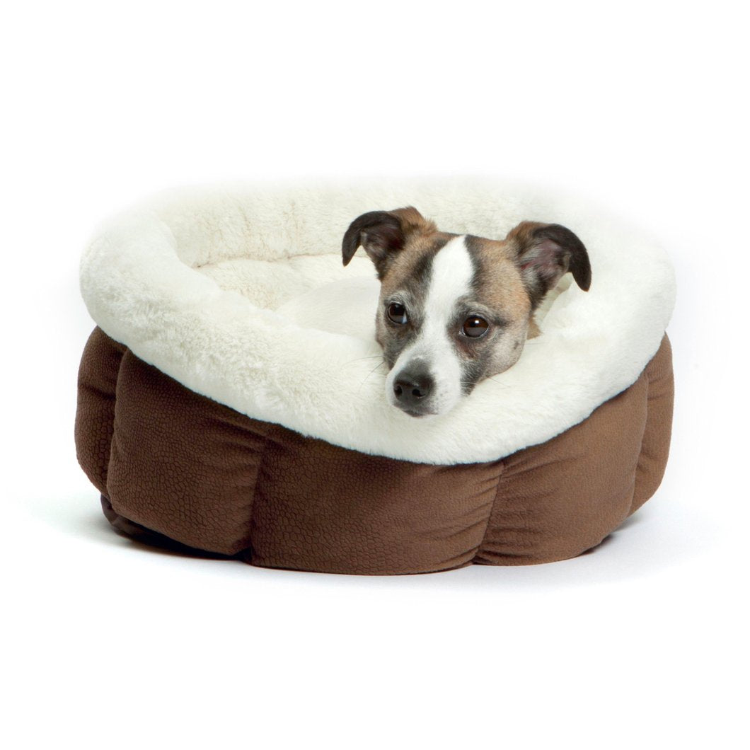 Best Friends by Sheri Cuddle Cup – Dog Bed – Cat Bed – Dark Brown Small 17""