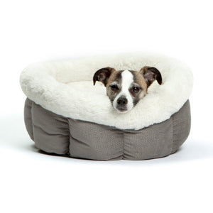Best Friends by Sheri Cuddle Cup - Dog Bed - Cat Bed - Gray Small 17""