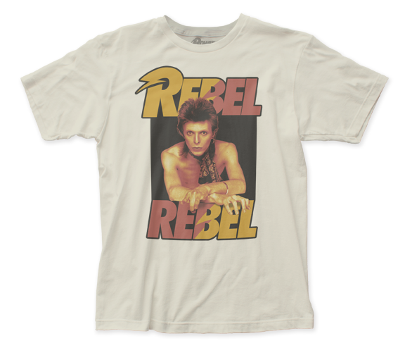 David Bowie Rebel Rebel fitted jersey tee