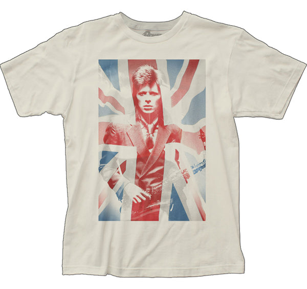 David Bowie Union Jack fitted jersey tee