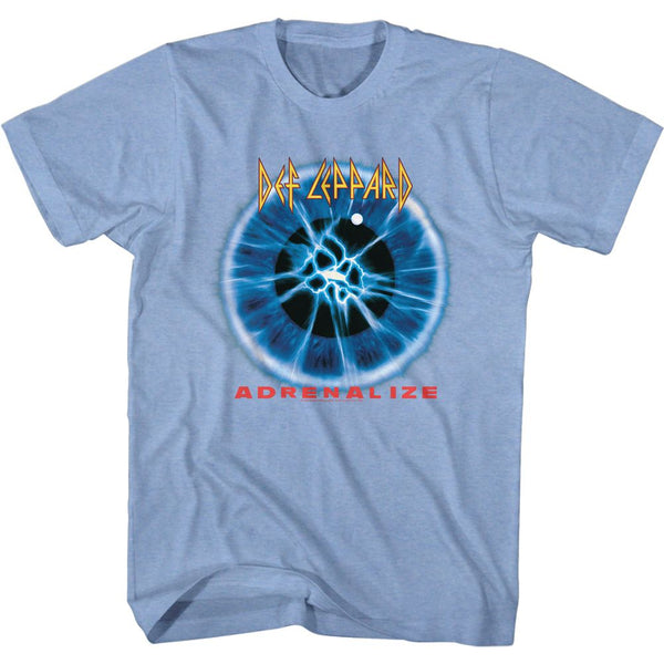 Def Leppard-Adrenalize Album-Light Blue Heather Adult S/S Tshirt