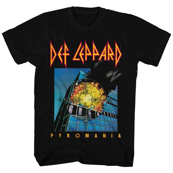 Def Leppard Pyromania Licensed Men's Classic Rock T-Shirt