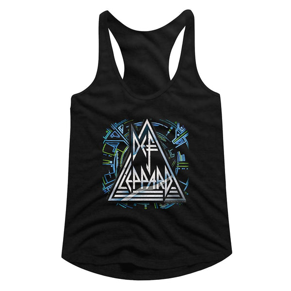 Def Leppard-Hysteria Histeric Logo-Black Ladies Racerback