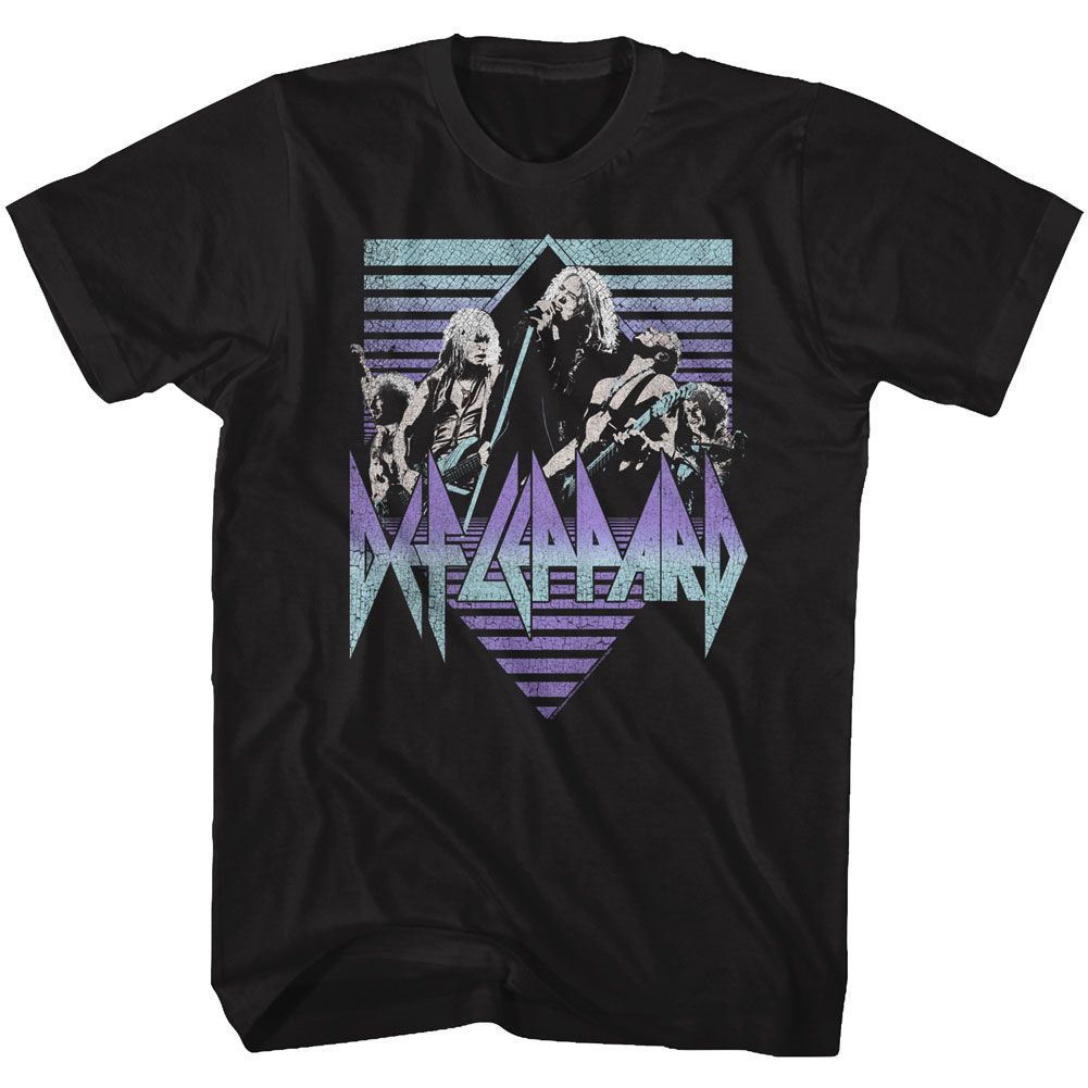 Def Leppard-Sing It-Black Adult S/S Tshirt