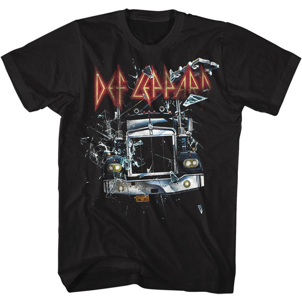 Def Leppard-On through the glass-Black Adult S/S Tshirt