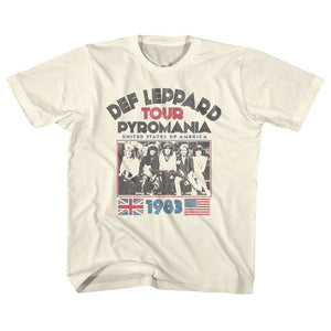 Def Leppard-Pyro Tour-Natural Youth S/S Tshirt