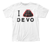 Devo - I Dome Devo Logo White Short Sleeve Soft Slim Fit Unisex Jersey T-Shirt tee - Coastline Mall