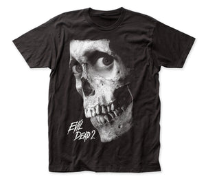 Evil Dead II Dead by Dawn black and white poster fitted jersey tee