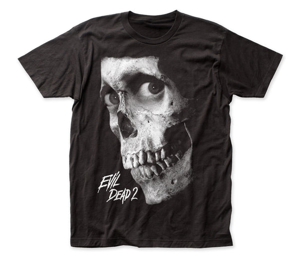 Evil Dead 2: Dead by Dawn - Black and White Poster | Black S/S Adult Jersey T-Shirt - Coastline Mall
