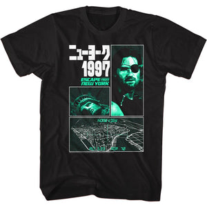 Escape From New York-New York 1997-Black Adult S/S Tshirt