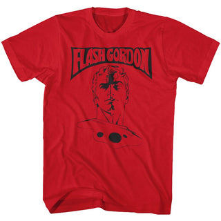 Flash Gordon-Flash Gordon-Red Adult S/S Tshirt - Coastline Mall