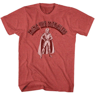 Flash Gordon-Mingin'-Red Heather Adult S/S Tshirt - Coastline Mall