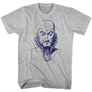 Flash Gordon-Ming Mug-Gray Heather Adult S/S Tshirt - Coastline Mall