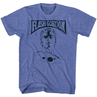 Flash Gordon-Ballin'-Royal Heather Adult S/S Tshirt - Coastline Mall