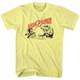 Flash Gordon-Monopoly Pawnage-Yellow Heather Adult S/S Tshirt - Coastline Mall