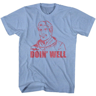 Flash Gordon-Doin Well-Light Blue Heather Adult S/S Tshirt - Coastline Mall