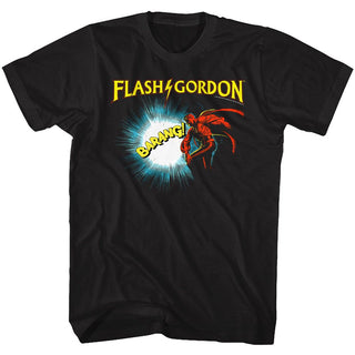 Flash Gordon-Doin It-Black Adult S/S Tshirt - Coastline Mall