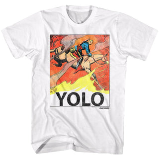 Flash Gordon-Yolo-White Adult S/S Tshirt - Coastline Mall