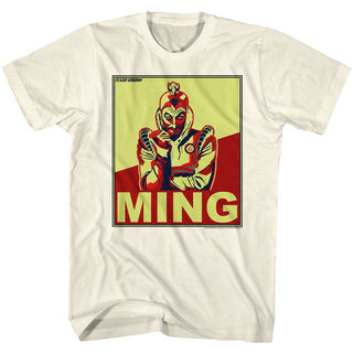 Flash Gordon-Ming-Natural Adult S/S Tshirt - Coastline Mall