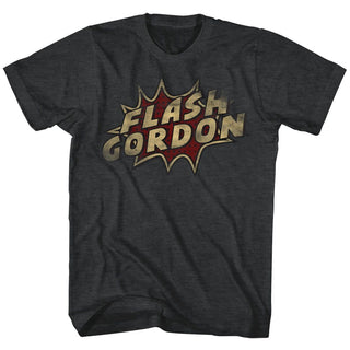 Flash Gordon-Dots-Black Heather Adult S/S Tshirt - Coastline Mall