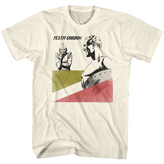 Flash Gordon-Laughable-Natural Adult S/S Tshirt - Coastline Mall