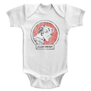 Flash Gordon - Flash | White S/S Infant Bodysuit - Coastline Mall