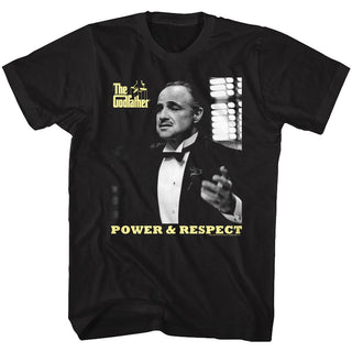 Godfather-Power Respect-Black Adult S/S Tshirt - Coastline Mall