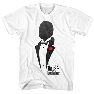 Godfather-Godfather Silhouette-White Adult S/S Tshirt - Coastline Mall
