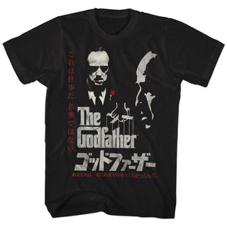 Godfather-Godfather-Black Adult S/S Tshirt - Coastline Mall