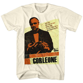 Godfather-Corleone-Natural Adult S/S Tshirt - Coastline Mall