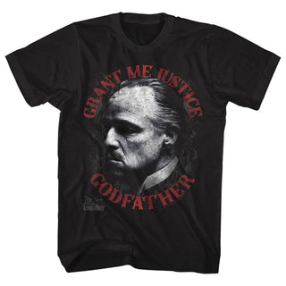 Godfather-Justice-Black Adult S/S Tshirt - Coastline Mall