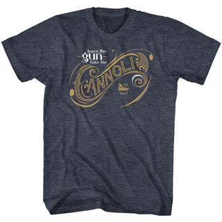 Godfather-Take The Cannoli-Navy Heather Adult S/S Tshirt - Coastline Mall