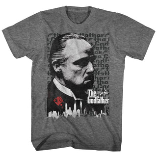 Godfather-Godfather-Graphite Heather Adult S/S Tshirt - Coastline Mall