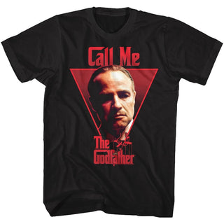 Godfather-Call Me-Black Adult S/S Tshirt - Coastline Mall