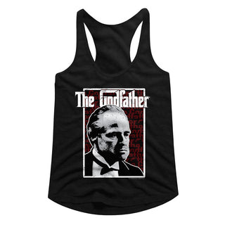 Godfather-Seeing Red-Black Ladies Racerback Tank - Coastline Mall