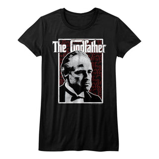 Godfather-Seeing Red-Black Ladies S/S Tshirt - Coastline Mall