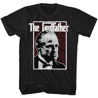 Godfather-Seeing Red-Black Adult S/S Tshirt - Coastline Mall