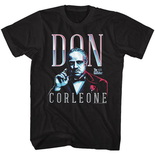 Godfather-Don Corleone-Black Adult S/S Tshirt - Coastline Mall