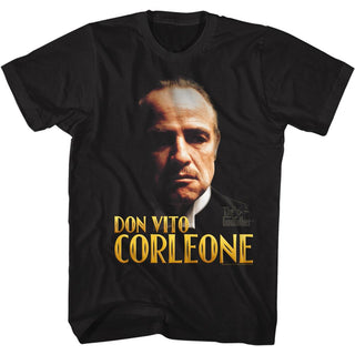 Godfather-Corleone-Black Adult S/S Tshirt - Coastline Mall
