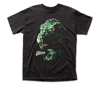 Godzilla - Portrait Logo Black Short Sleeve Adult Soft Slim Fit Unisex Jersey T-Shirt tee - Coastline Mall