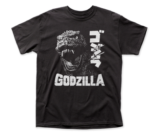 Godzilla - Scream Logo Black Short Sleeve Adult Soft Slim Fit Unisex Jersey T-Shirt tee - Coastline Mall
