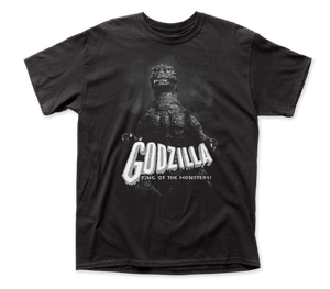 Godzilla Black-White King of the Monsters adult tee