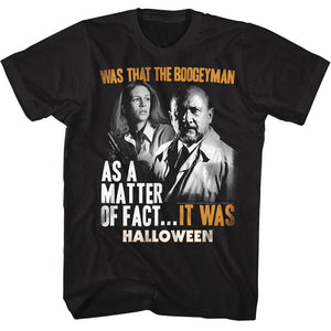 Halloween-It Was-Black Adult S/S Tshirt