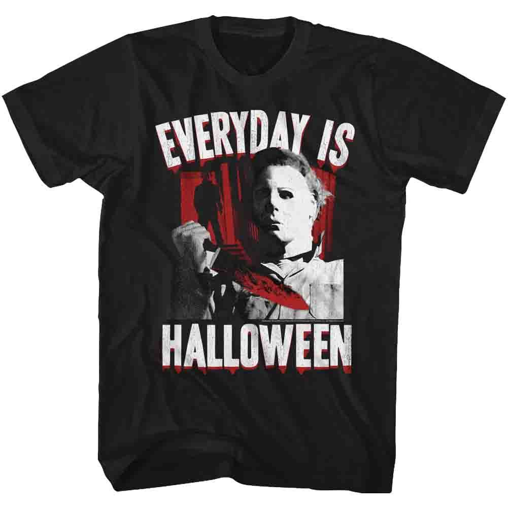 Halloween-Everyday-Black Adult S/S Tshirt