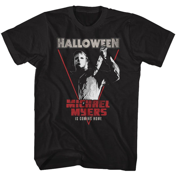 Halloween-Michael Coming Home-Black Adult S/S Tshirt