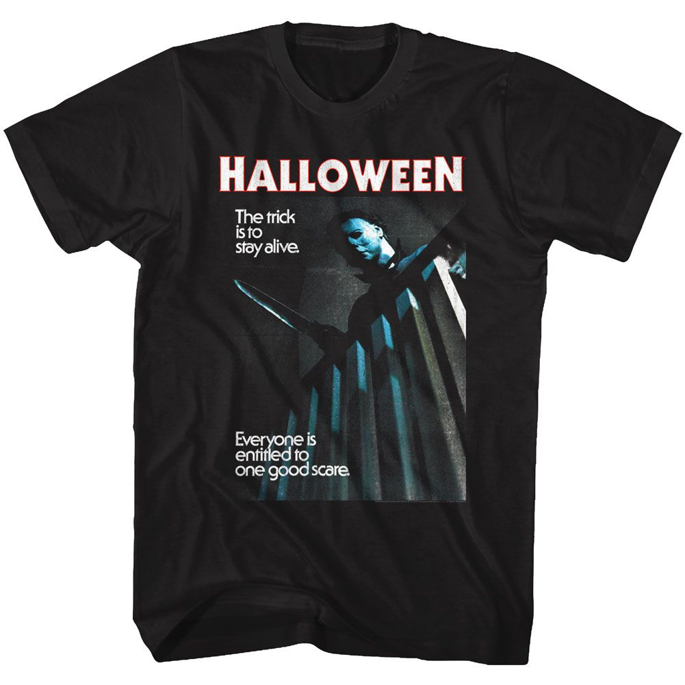 Halloween-Stay Alive-Black Adult S/S Tshirt