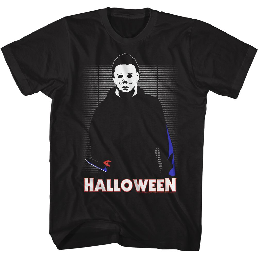 Halloween-In The House-Black Adult S/S Tshirt